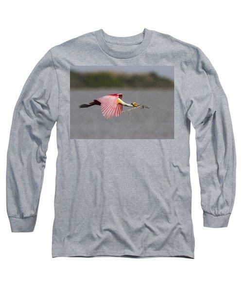Nest Material Long Sleeve T-Shirt by Doug Lloyd