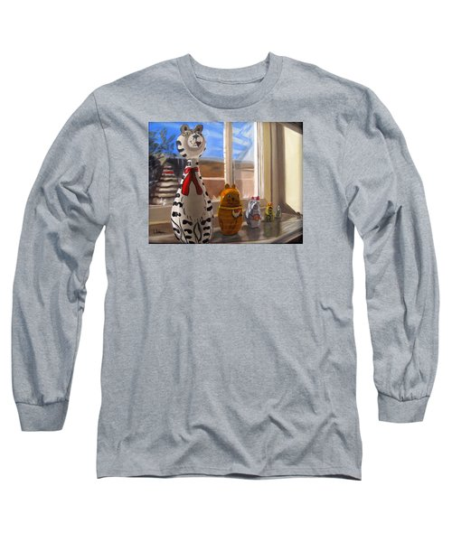 Nested Cats Long Sleeve T-Shirt by LaVonne Hand