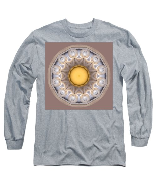 Long Sleeve T-Shirt featuring the photograph Neutral Kaleidoscope Square by Betty Denise