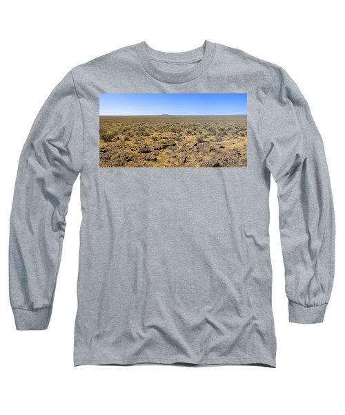 Long Sleeve T-Shirt featuring the photograph Nevada Desert Panorama by Mark Greenberg