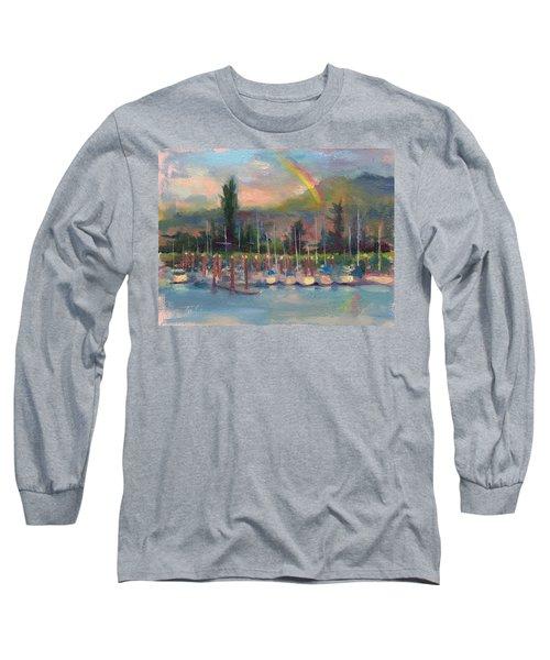 New Covenant - Rainbow Over Marina Long Sleeve T-Shirt