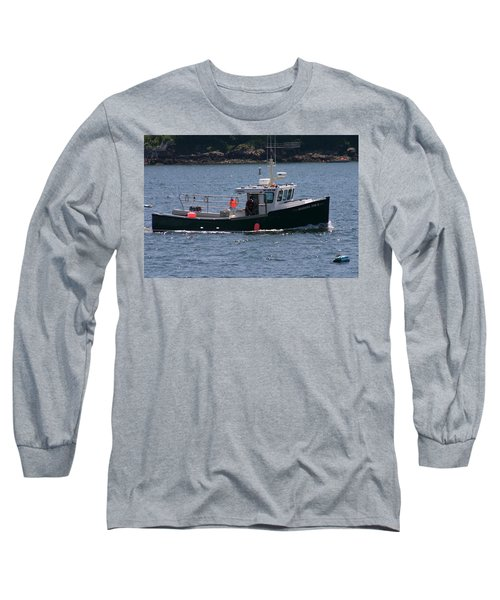 Long Sleeve T-Shirt featuring the photograph New England Fishing Boat by Denyse Duhaime