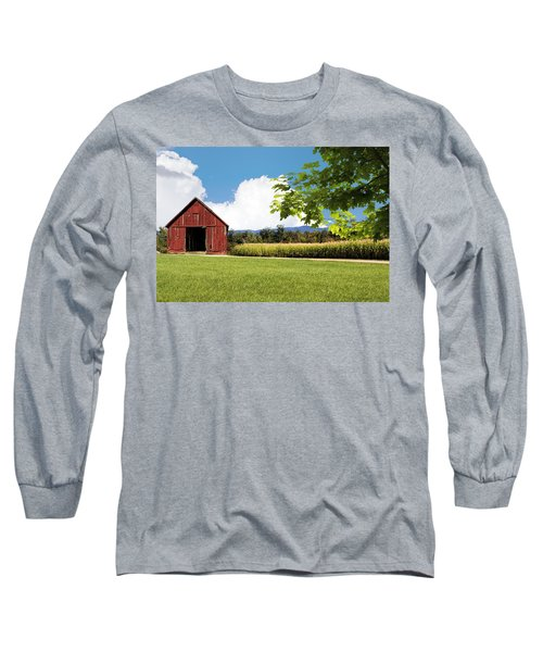 New Hampshire Barnyard Long Sleeve T-Shirt by Fred Larson