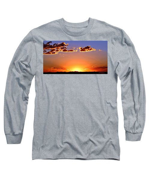 Long Sleeve T-Shirt featuring the photograph New Mexico Sunset Glow by Barbara Chichester