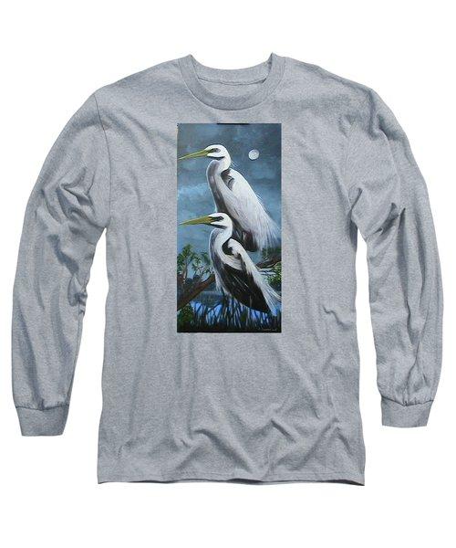Night Egrets Long Sleeve T-Shirt