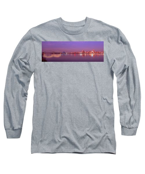 Night Memphis Tn Long Sleeve T-Shirt