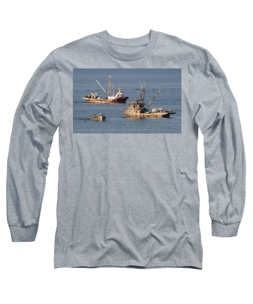 Night Train Long Sleeve T-Shirt by Randy Hall
