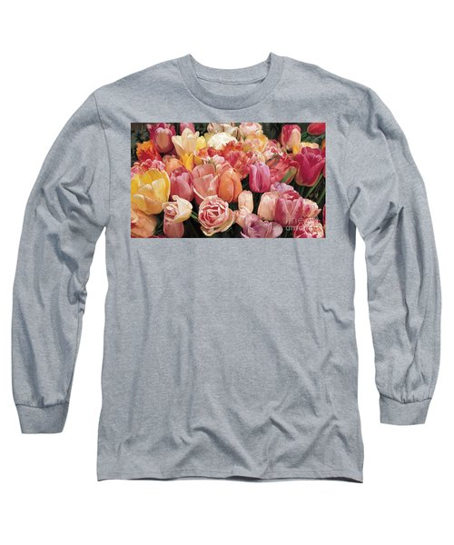 Long Sleeve T-Shirt featuring the painting Nikki's Tulips by Tim Gilliland