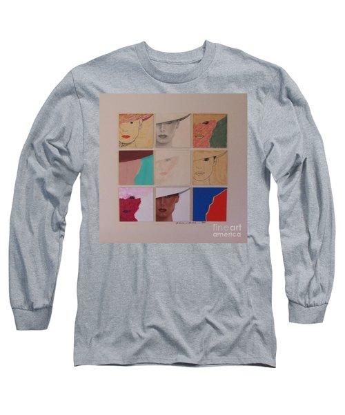 Nine Ladies Lolling Long Sleeve T-Shirt by Susan Williams