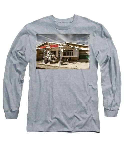 Long Sleeve T-Shirt featuring the photograph No Gas by Steven Bateson