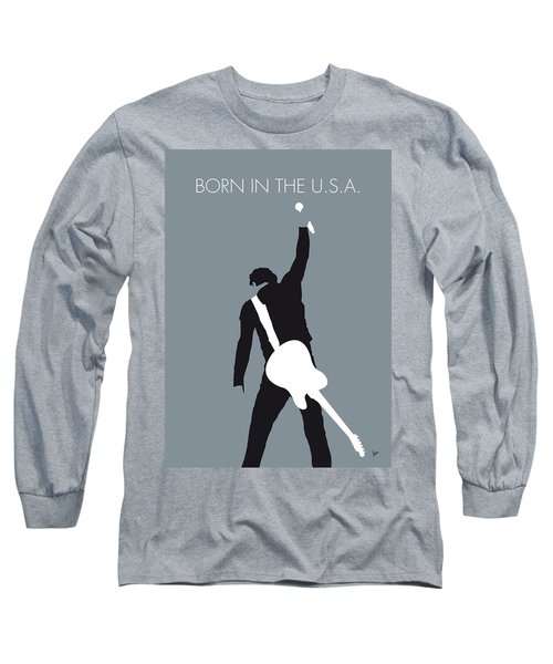 No017 My Bruce Springsteen Minimal Music Poster Long Sleeve T-Shirt by Chungkong Art