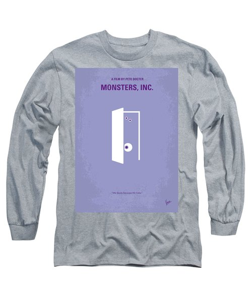 No161 My Monster Inc Minimal Movie Poster Long Sleeve T-Shirt