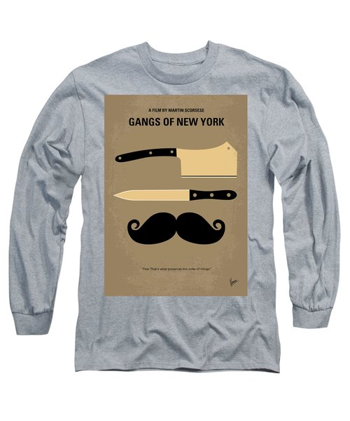 No195 My Gangs Of New York Minimal Movie Poster Long Sleeve T-Shirt