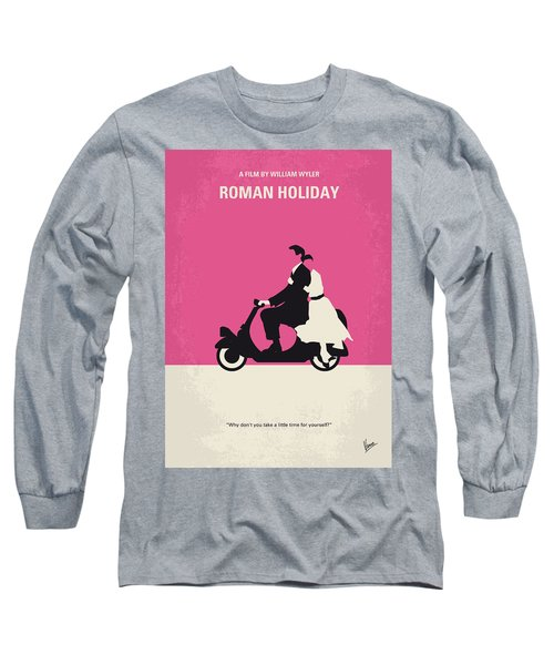No205 My Roman Holiday Minimal Movie Poster Long Sleeve T-Shirt