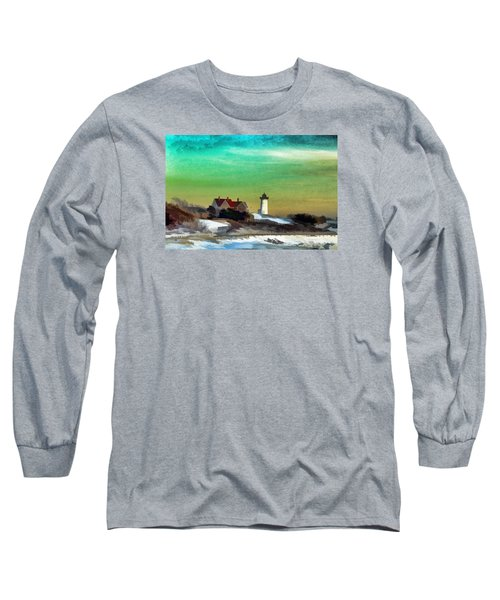 Nobska Lighhouse In Winter Long Sleeve T-Shirt