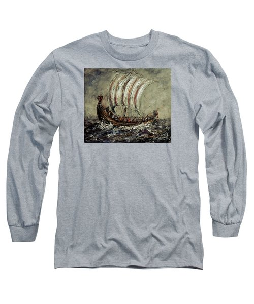 Norse Explorers Long Sleeve T-Shirt by Arturas Slapsys