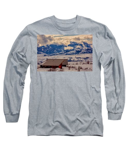 Long Sleeve T-Shirt featuring the painting North Cascades Mountain View by Omaste Witkowski