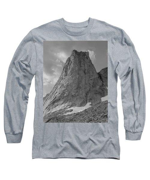 109649-bw-north Face Pingora Peak, Wind Rivers Long Sleeve T-Shirt