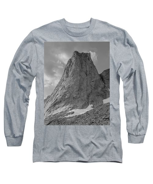 109649-bw-north Face Pingora Peak, Wind Rivers Long Sleeve T-Shirt