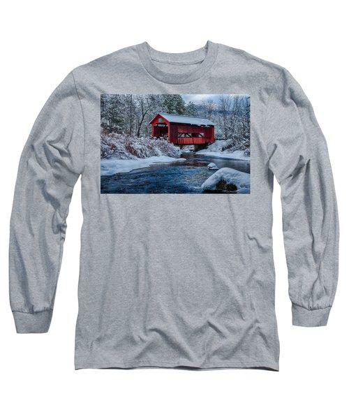 Northfield Vermont Covered Bridge Long Sleeve T-Shirt
