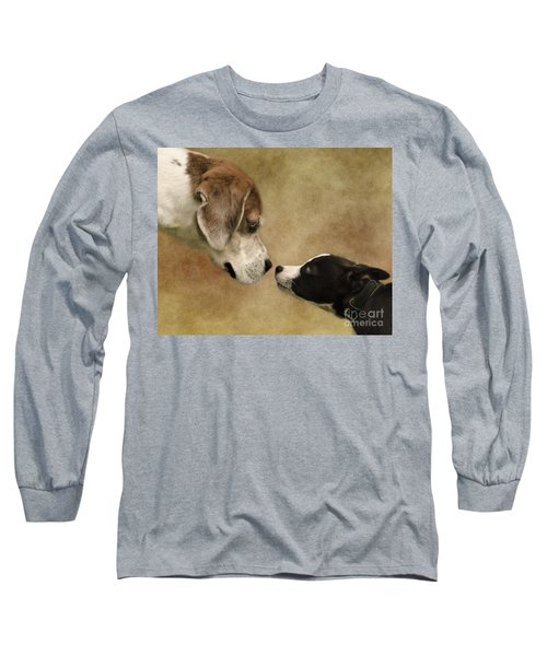 Nose To Nose Dogs Long Sleeve T-Shirt