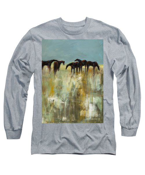 Not A Cloud In The Sky Long Sleeve T-Shirt by Frances Marino