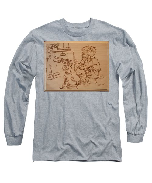 Not To Be Opened Until Christmas Long Sleeve T-Shirt by Sean Connolly