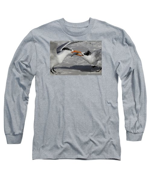 Nothing Says I Love You Like A Fish Long Sleeve T-Shirt by Meg Rousher