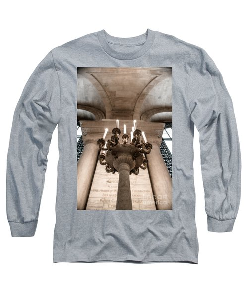 Ny Public Library Candelabra Long Sleeve T-Shirt