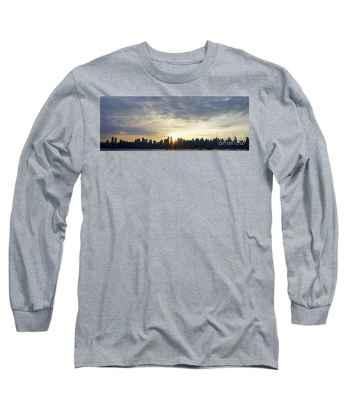 Nyc Sunrise Panorama Long Sleeve T-Shirt