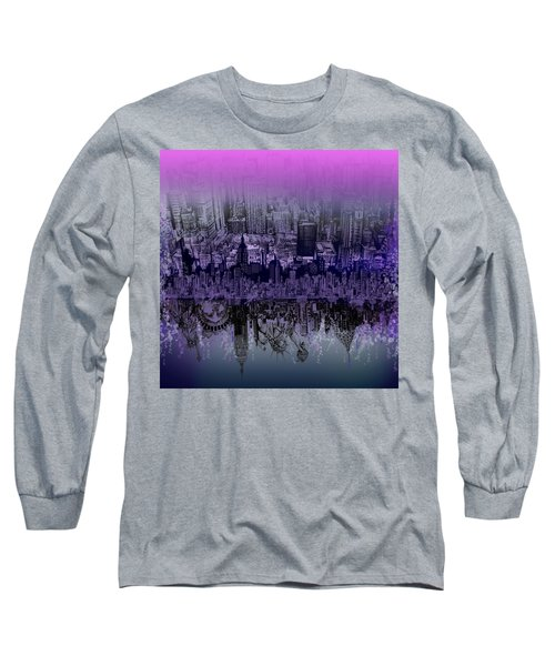 Nyc Tribute Skyline Long Sleeve T-Shirt