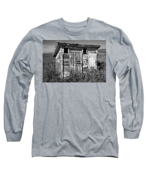 Obsolete Country School Outhouse Long Sleeve T-Shirt