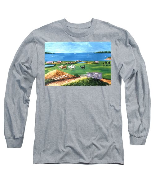 Long Sleeve T-Shirt featuring the painting Ocean Ranch by Lance Headlee