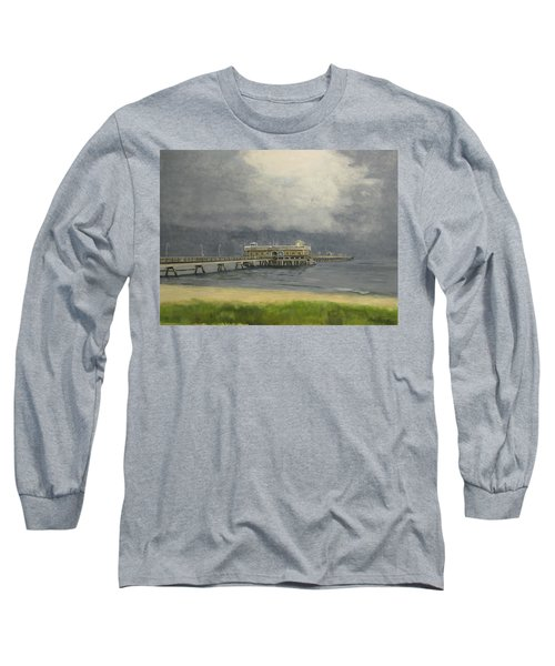 Ocean View Pier Long Sleeve T-Shirt by Stan Tenney