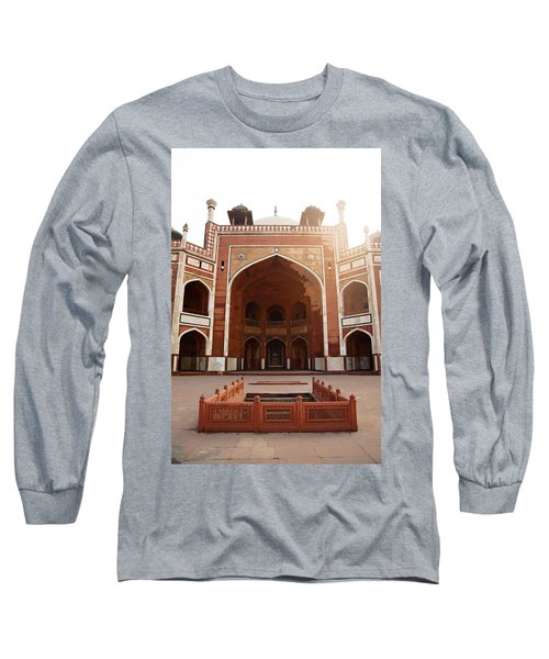 Oil Painting - Cross Section Of Humayun Tomb Long Sleeve T-Shirt