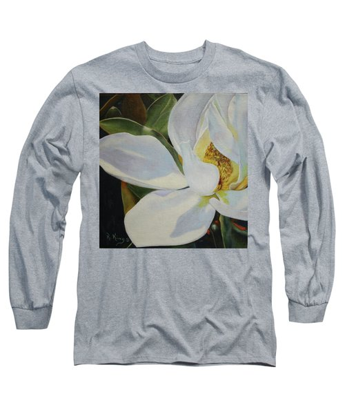 Oil Painting - Sydney's Magnolia Long Sleeve T-Shirt