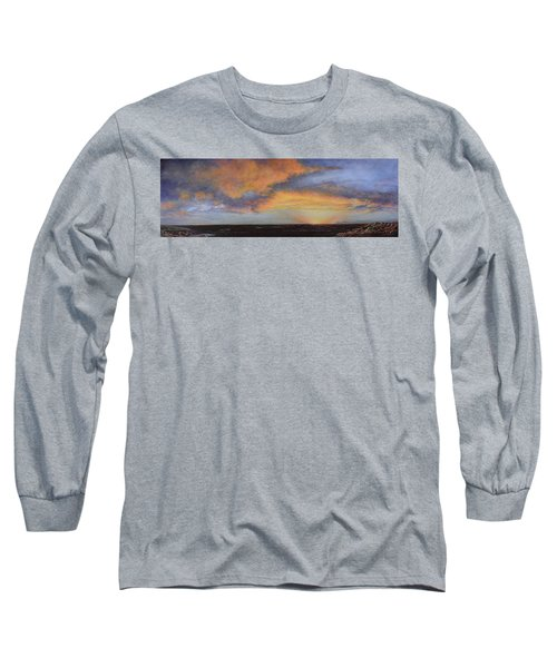 Oil Painting When The Sky Turns Color Long Sleeve T-Shirt