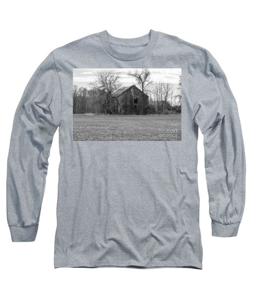 Long Sleeve T-Shirt featuring the photograph Old Barn by Charles Kraus