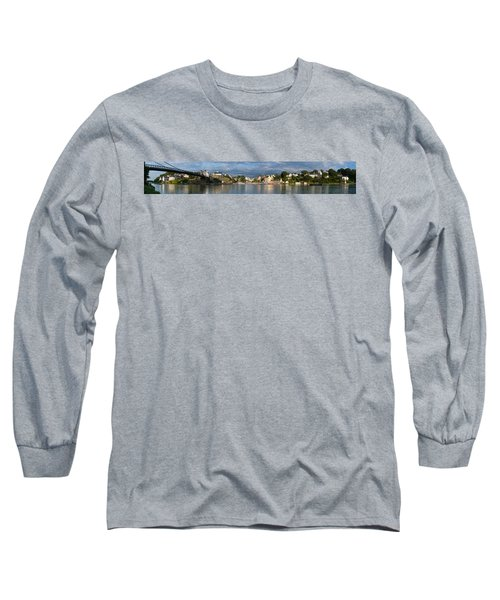 Old Bridge Over The Sea, Le Bono, Gulf Long Sleeve T-Shirt by Panoramic Images