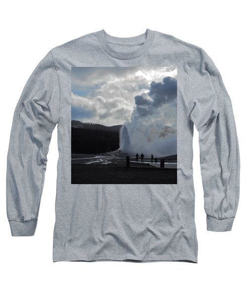 Long Sleeve T-Shirt featuring the photograph Old Faithful Morning by Michele Myers