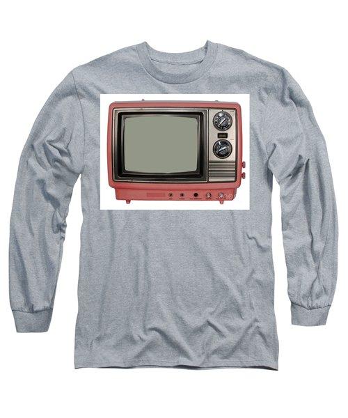 Vintage Tv Set Long Sleeve T-Shirt
