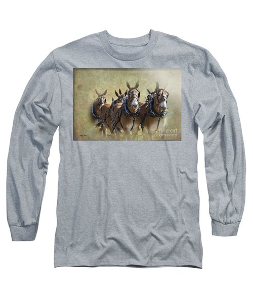 Old West Mule Train Long Sleeve T-Shirt