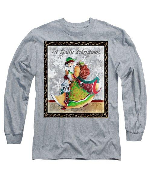 Old World Santa Clause Christmas Art Original Painting By Megan Duncanson Long Sleeve T-Shirt