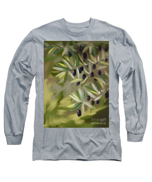 Long Sleeve T-Shirt featuring the painting Olive Tree by Go Van Kampen