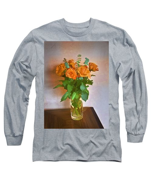 Long Sleeve T-Shirt featuring the photograph Orange And Green by John Hansen