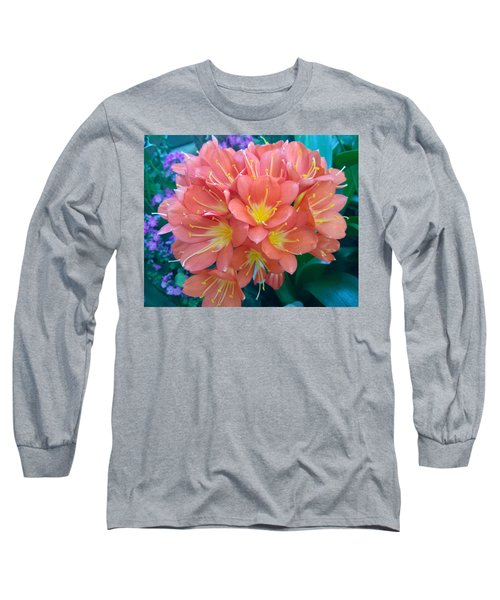 Orange Bouquet Long Sleeve T-Shirt by Claudia Goodell
