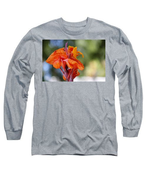 Orange Ruffled Beauty Long Sleeve T-Shirt