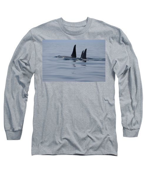 Long Sleeve T-Shirt featuring the photograph Orca Family by Marilyn Wilson