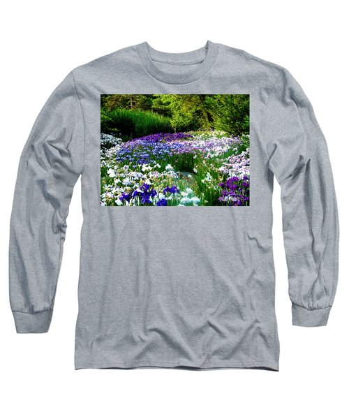Oriental Ensata Iris Garden Long Sleeve T-Shirt