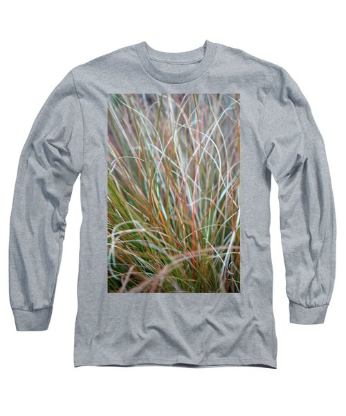 Long Sleeve T-Shirt featuring the photograph Ornamental Grass Abstract by E Faithe Lester